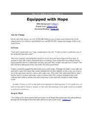 Equipped with Hope