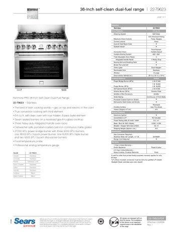 kenmore elite slide in gas range manual