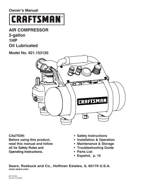 Manual Starting Of Air Compressor