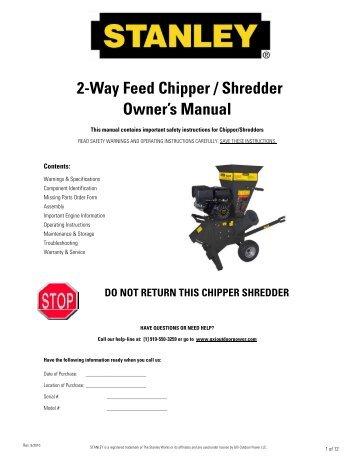 Chipper champ 2 service manual