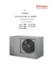 Οδηγίες Εγκατάστασης Dimplex LA 6MR-16TR - Sieline