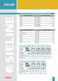 διαστασεις και βαρη ηλιακων - Sieline
