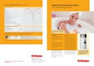 Dimplex Heat Pump Water Heaters: The Energy-Saving ... - Sieline