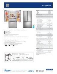 Effective 07/09/12 Kenmore Elite® Signature 33-Inch 25 cu ... - Sears
