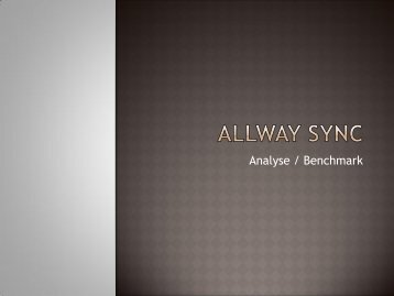 Analyse Allway Sync