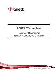 Maximo 7 Inventory - FIU Facilities Management - Florida ...