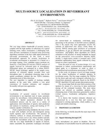 multi-source localization in reverberant environments - eurasip