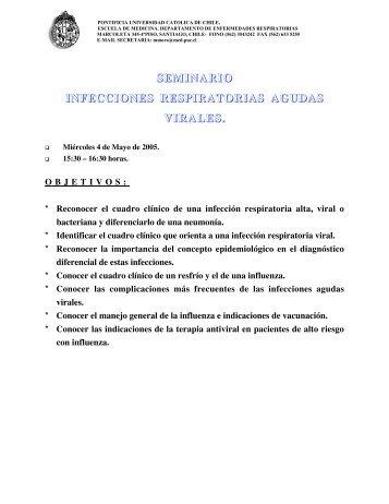 Infecciones respiratorias agudas virales - Escuela de Medicina
