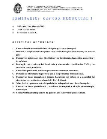 Cáncer bronquial I - Escuela de Medicina