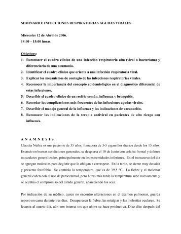 SEMINARIO: INFECCIONES RESPIRATORIAS AGUDAS VIRALES ...