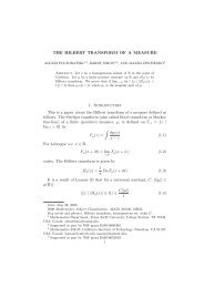 THE HILBERT TRANSFORM OF A MEASURE 1. Introduction This is ...