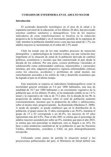 CUIDADOS DE ENFERMERIA EN EL ADULTO MAYOR ...