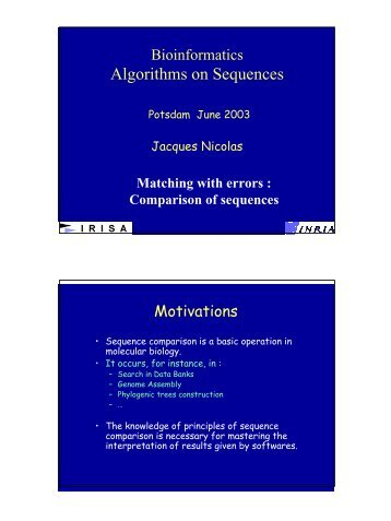 Algorithms on Sequences