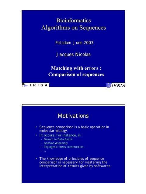 Algorithms on Sequences