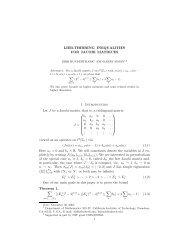 LIEB-THIRRING INEQUALITIES FOR JACOBI MATRICES 1 ...