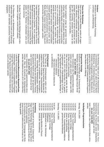 Call for Papers - Didaktik der Informatik - Universität Potsdam