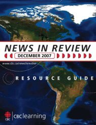 Download the complete Resource Guide - News in review - CBC ...