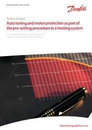 Auto tuning and motor protection - Danfoss Heating for consumers