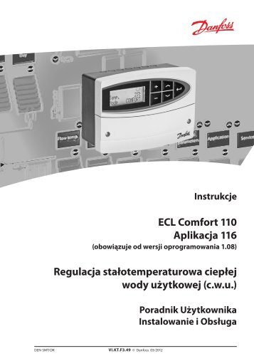 ECL Comfort 110 Aplikacja 116 Regulacja ... - Danfoss.com