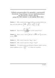 Zadania przygotowujące do egzaminu z matematyki dla klasy 2 ...
