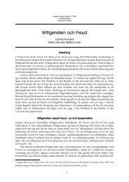 Wittgenstein och Freud (Modern fransk filosofi, vt 1998)