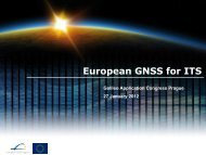 European GNSS for ITS