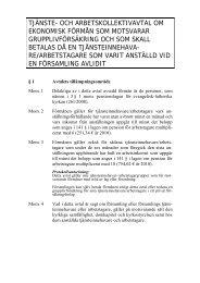 tjänste- och arbetskollektivavtal om ekonomisk förmån som ... - Sakasti