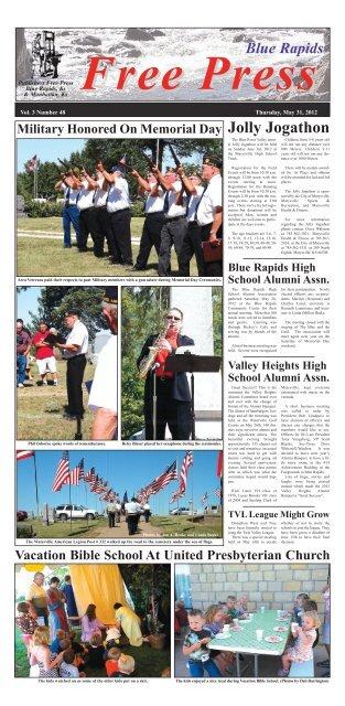 eFreePress 05.31.12.pdf - Blue Rapids Free Press
