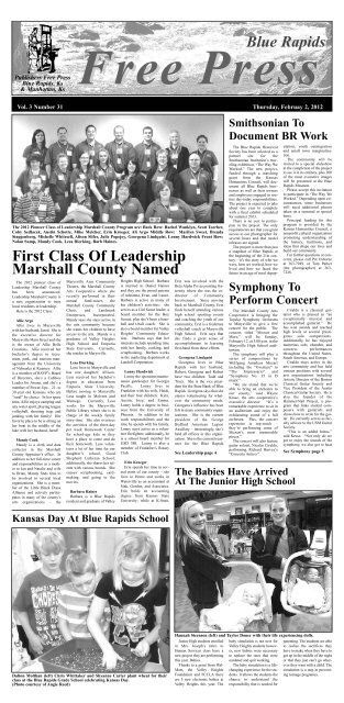 eFreePress 02.02.12.pdf - Blue Rapids Free Press