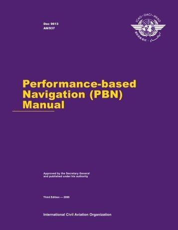 Performance-based Navigation (PBN) Manual
