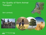 For Quality of Farm Animal Transport