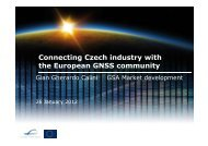 Connecting Czech industry with the European GNSS community