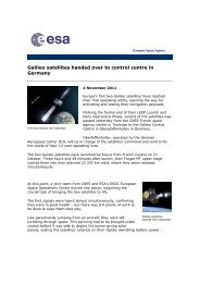 ESA News 4nov11_Galileo.pdf - Telespazio