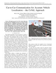 Car-to-Car Communication for Accurate Vehicle Localization – the ...
