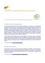 ITS IN ITALY BREAKING NEWS October 2005 - compose - Telespazio