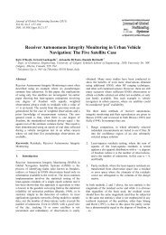 Receiver Autonomous Integrity Monitoring in Urban Vehicle ... - GNSS