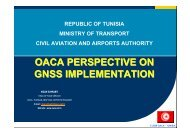 oaca perspective on gnss implementation - Projet EuroMed Transport