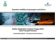 Galileo Applica+on Congress Prague 2012 Land Transport Session ...