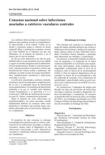Consenso nacional sobre infecciones asociadas a catéteres ...
