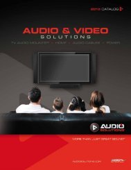 2013 Audio Solutions Catalog