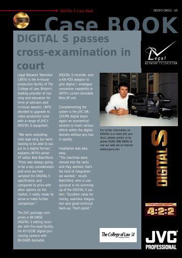 Case BOOK DIGITAL S passes cross-examination in court - JVC