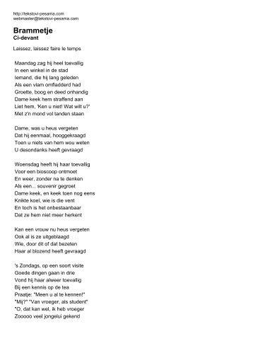 Brammetje - Ci-devant - Tekstovi pesama