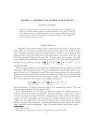 MATRIX Ap WEIGHTS VIA MAXIMAL FUNCTIONS 1. Preliminaries ...