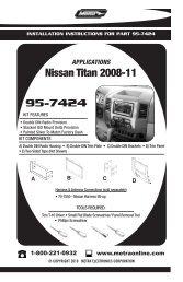 95-7424 Nissan Titan 2008-11 - Metra Electronics