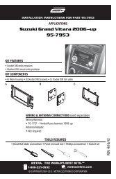Suzuki Grand Vitara 2006--up 95-7953 - Metra Electronics
