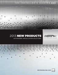 2013 NEW PRODUCTS - Metra Electronics