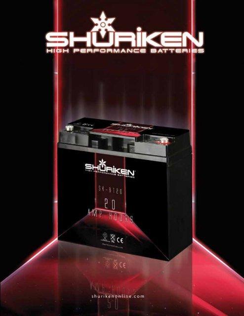 Shuriken SK-BT60 Compact Size Agm Technology 1500W 60 Amp 12V Car Battery New
