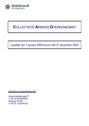 COLLECTIEVE ARBEIDS OVEREENKOMST - docs.szw.nl