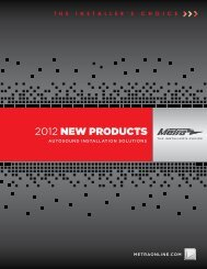 2012 NEW PRODUCTS - Metra Electronics