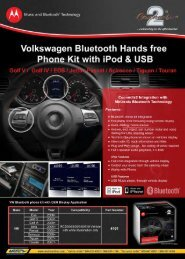 Volkswagen Bluetooth Hands free
